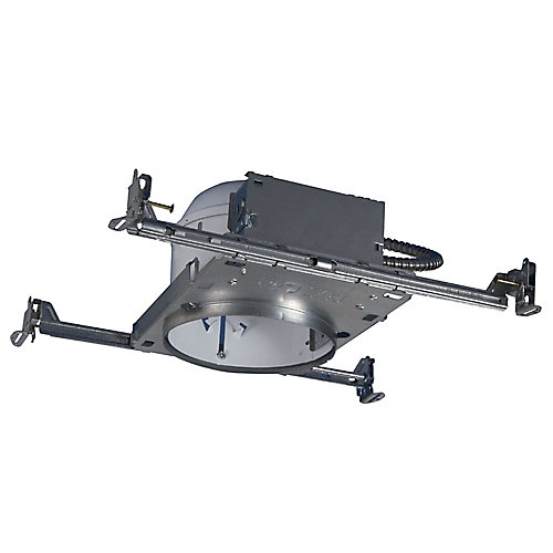 H27 6-inch Steel Recessed Lighting Housing for New Construction Shallow Ceiling