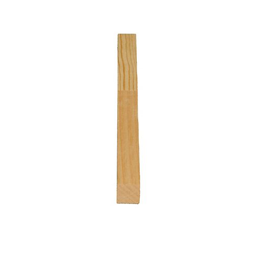 Alexandria Moulding Finger Jointed Pine D4S 11/16 In. x 11/16 In. x 8 Ft.