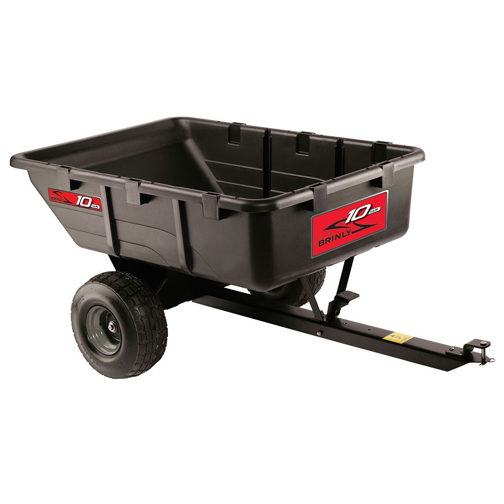 Brinly-Hardy 650 lb. 10 cu. ft. Tow-Behind Poly Utility Cart