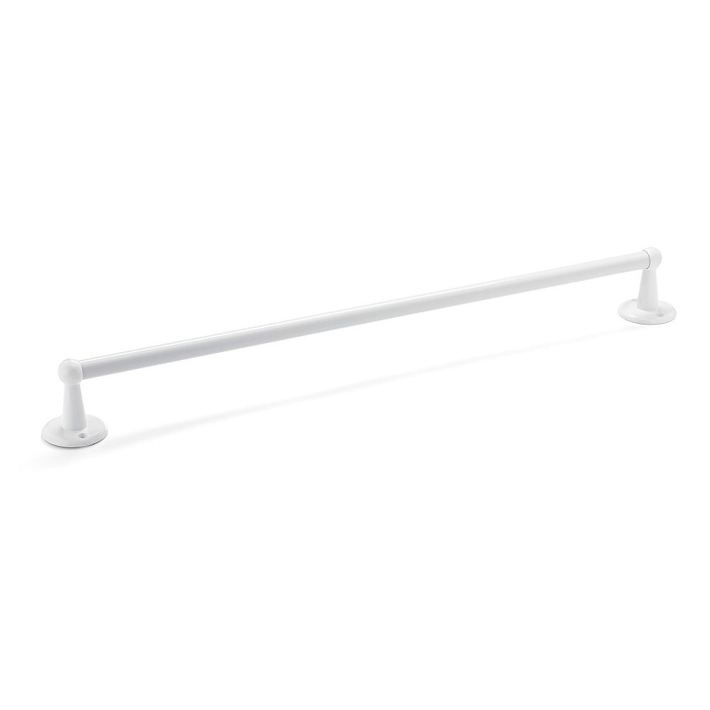 Nystrom Towel Bar, White, 26 inch - Euro Collection