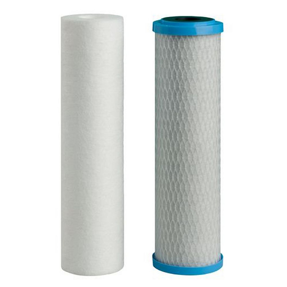 Watts (5 Mic Sediment&5 Mic Carbon) Replace Filters (2-Pack)