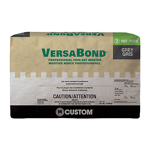 VersaBond 50 lb. Grey Ceramic Tile & Stone Fortified Thin-Set Mortar