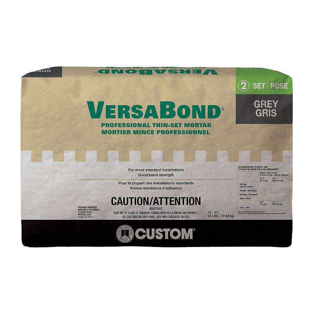 Custom Building Products VersaBond 50 lb. Grey Ceramic Tile & Stone Fortified Thin-Set Mortar