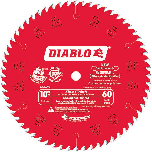 10 In. x 60 Tooth Fine Finish Blade