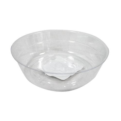 Soucoupe pour pots à fleurs, vinyle, 4 po, transparent