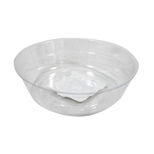 4-inch Clear Vinyl Saucer for Potted Plants
