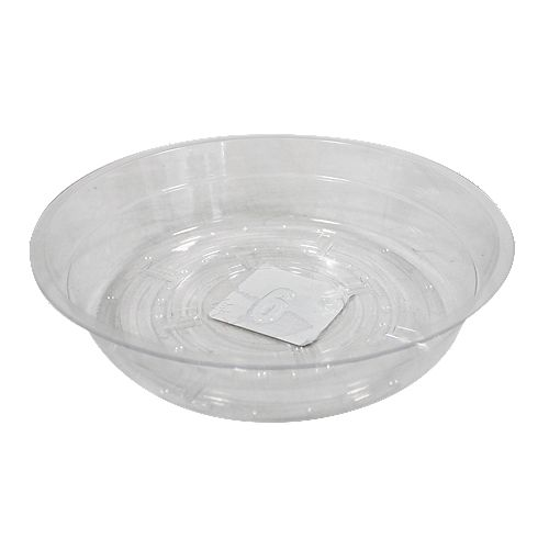 6-inch Clear Vinyl Saucer for Potted Plants