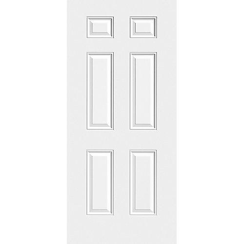 31 3/4-inch x 79-inch x 1 3/4-inch 6 Panel Steel Slab Door - ENERGY STAR®