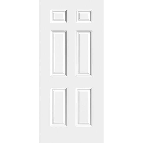 31 3/4-inch x 79-inch x 1 3/4-inch 6 Panel Steel Slab Door