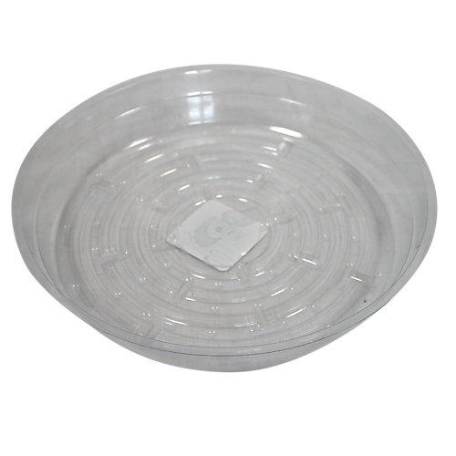 Soucoupe pour pots à fleurs, vinyle, 8 po, transparent