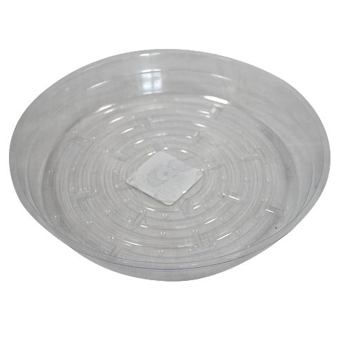 Blooms 8-inch Clear Vinyl Saucer for Potted Plants