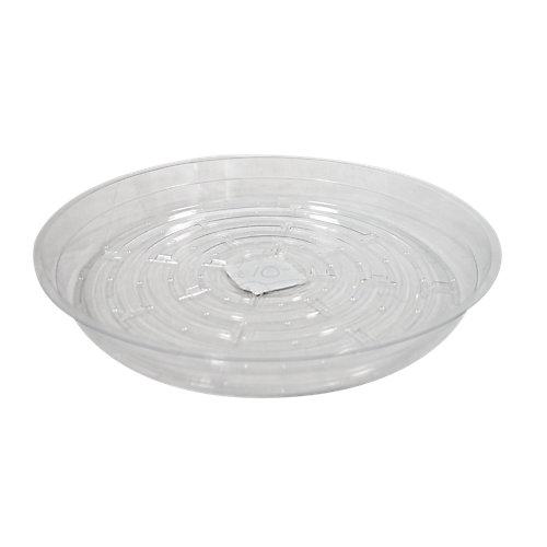 Soucoupe pour pots à fleurs, vinyle, 10 po, transparent