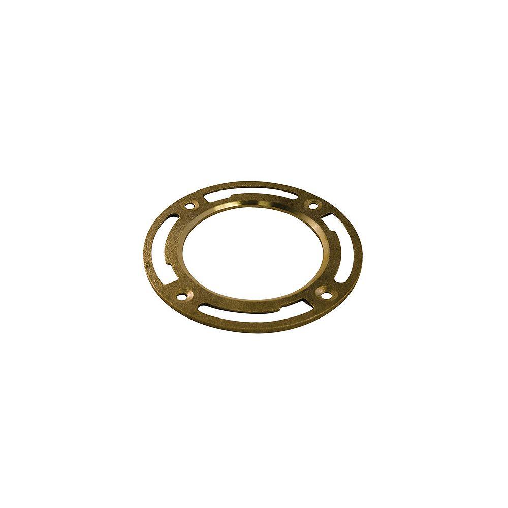Aqua-Dynamic Floor Flange 4-inch - Light Pattern Brass