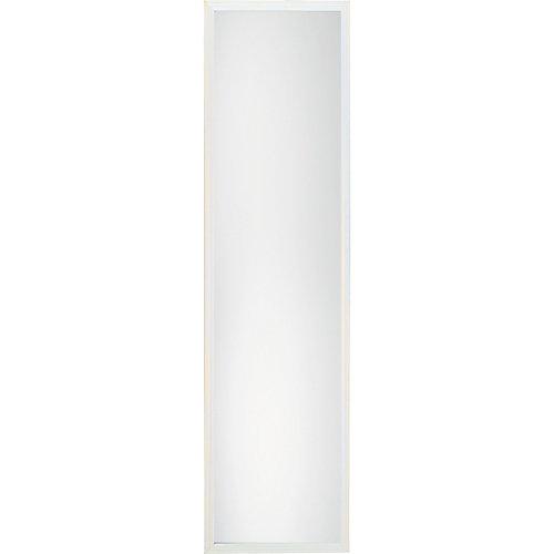 13-inch x 49-inch Framed Door Mirror in White