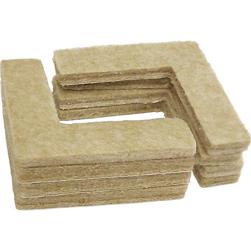 1-1/2 inch Heavy Duty Self-Adhesive Corner Felt Pads (8-Pack)