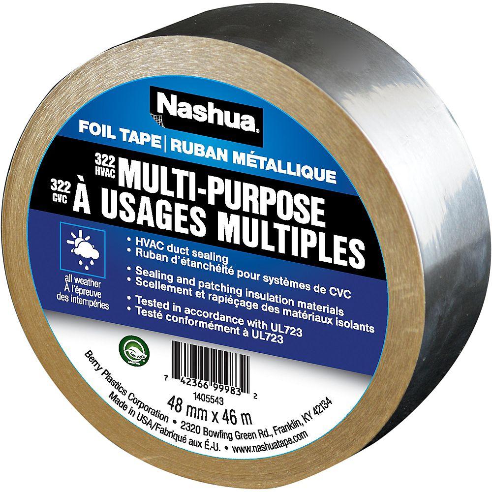 Nashua Tape 1.89 in x 50.3 yd 322 Multi-Purpose HVAC Foil Tape