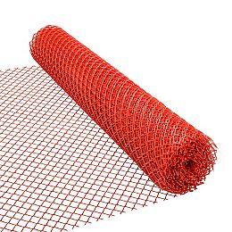 Clôture de sécurité en orange, 48 po x 50 pi roille, 1 1/2 po x 1 1/2 po maille