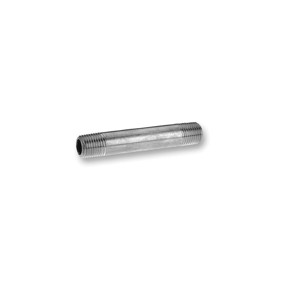STZ Galvanized Steel Pipe Nipple 1/2 Inch x 5 Inch
