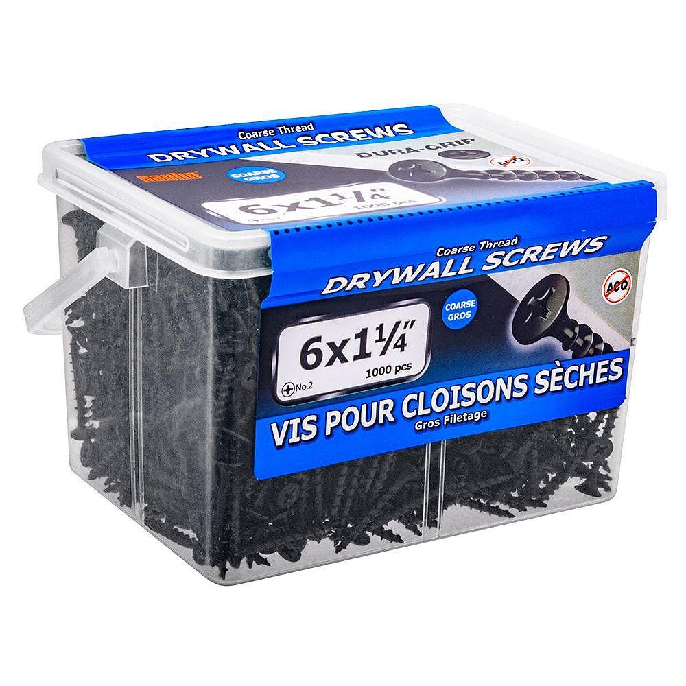 Paulin #6 x 1-1/4-inch Flat Head Phillips Drive Coarse Thread Drywall Screws - 1000pcs