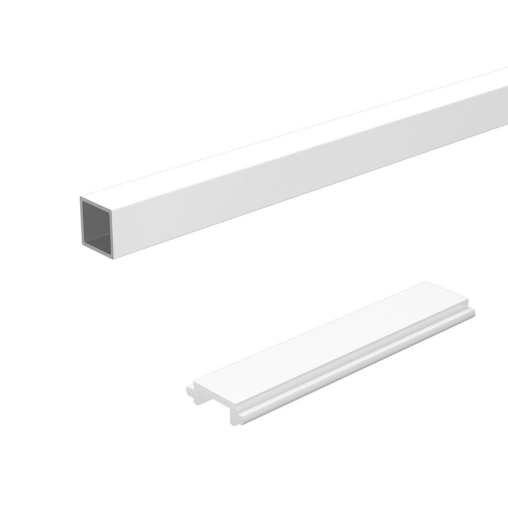 RailBlazers 6 ft. Aluminum Stair Railing Pickets and Spacers in White