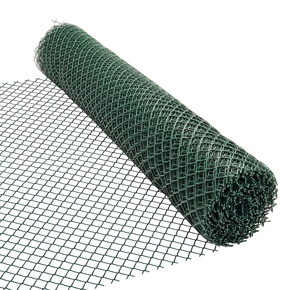 HDX 50 ft. L x 48-inch H PVC Vinyl Safety Fence in Green with 1 1/2-inch x 1 1/2-inch Mesh Size