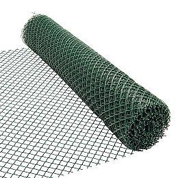 50 pieds. L x 48 pouces H Clôture de sécurité en plastique verte (mailles de 1 1/2 pouce x 1 1/2 pouce)