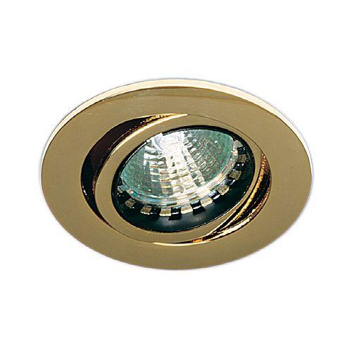 Mini Luminaires cylindriques à encastrer, Bas Voltage, Doré
