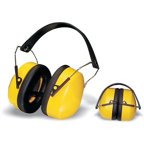 Collapsible padded ear muff
