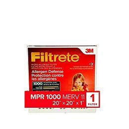 20-inch x 20-inch x 1-inch Allergen Defense MPR 1000 Micro Allergen Furnace Filter