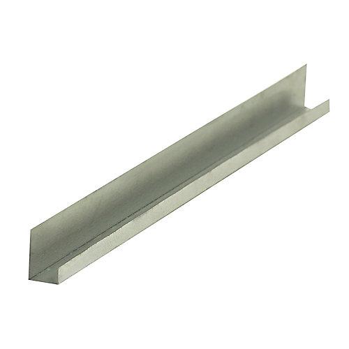 D400 Metal J Drywall Trim 1/2 inch x 10 ft.