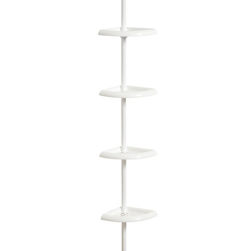 Étagère de douche 4 table blanc