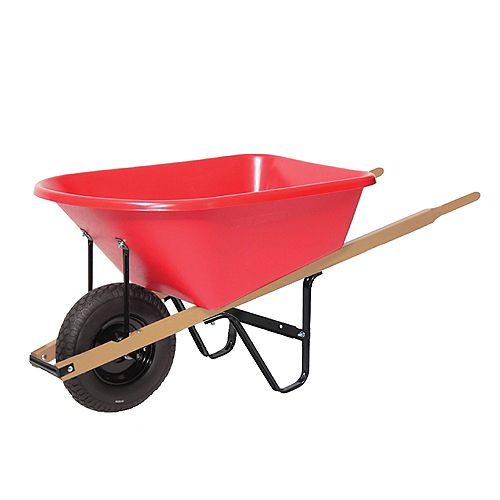 Wheelbarrow 6 cu. ft. Poly Tray