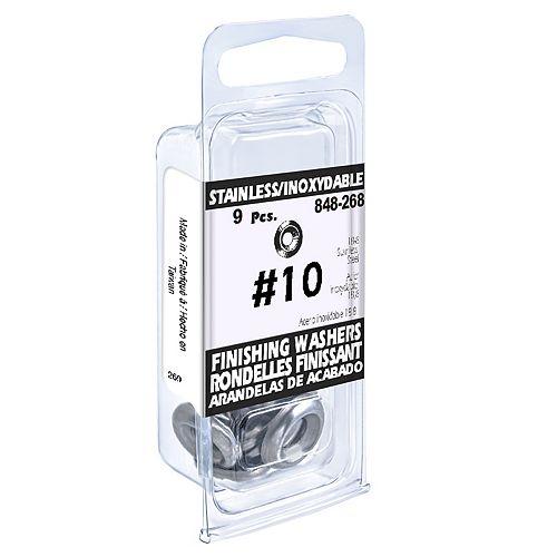 #10 18.8 Stainless Steel Finishing Washers (9 Pcs)