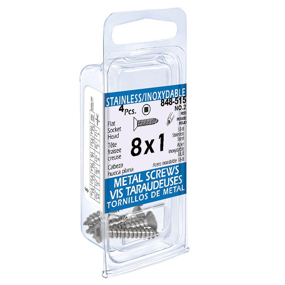 Paulin #8 x 1-inch Flat Socket Head Tapping Screws (4 Pcs)