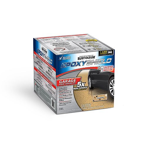 Garage Floor Coating In Semi-Gloss Tan, 3.55 L (covers up to 249 Sq. Ft.)
