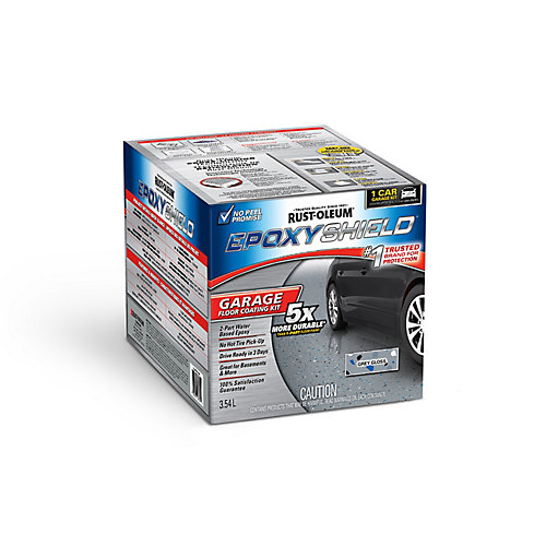 Garage Floor Coating In Semi-Gloss Grey, 3.55 L (covers up to 249 Sq. Ft.)