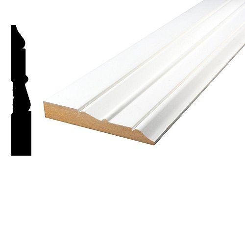 Alexandria Moulding 11/16-inch x 4 1/2-inch MDF Primed Fibreboard Baseboard Moulding