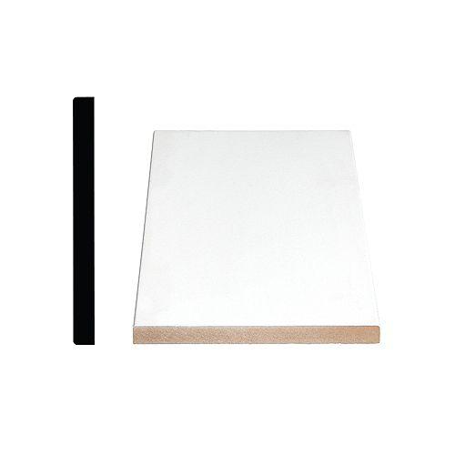 1/2-inch x 5 1/2-inch Modern MDF Primed Fibreboard S4S Baseboard Moulding