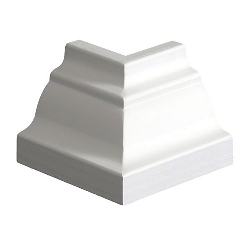 Primed Finger Jointed Hemlock Outside Crown Corner 5/8 Inches x 3-1/4 Inches