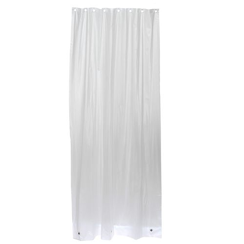 Glacier Bay 42 Inch W x 78 Inch H Stall-Sized Vinyl Shower Liner in Frosty