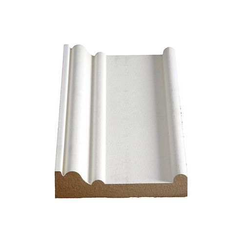 Alexandria Moulding 1 1/6-inch x 4 1/2-inch MDF Primed Fibreboard Boston Header/Architrave Moulding