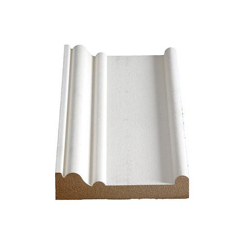 Alexandria Moulding 1 1/6-inch x 4 1/2-inch MDF Primed Fibreboard Boston Header/Architrave Moulding