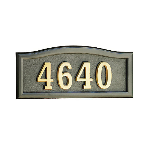 Plaque de numéro civique bronze en fonte d'aluminium