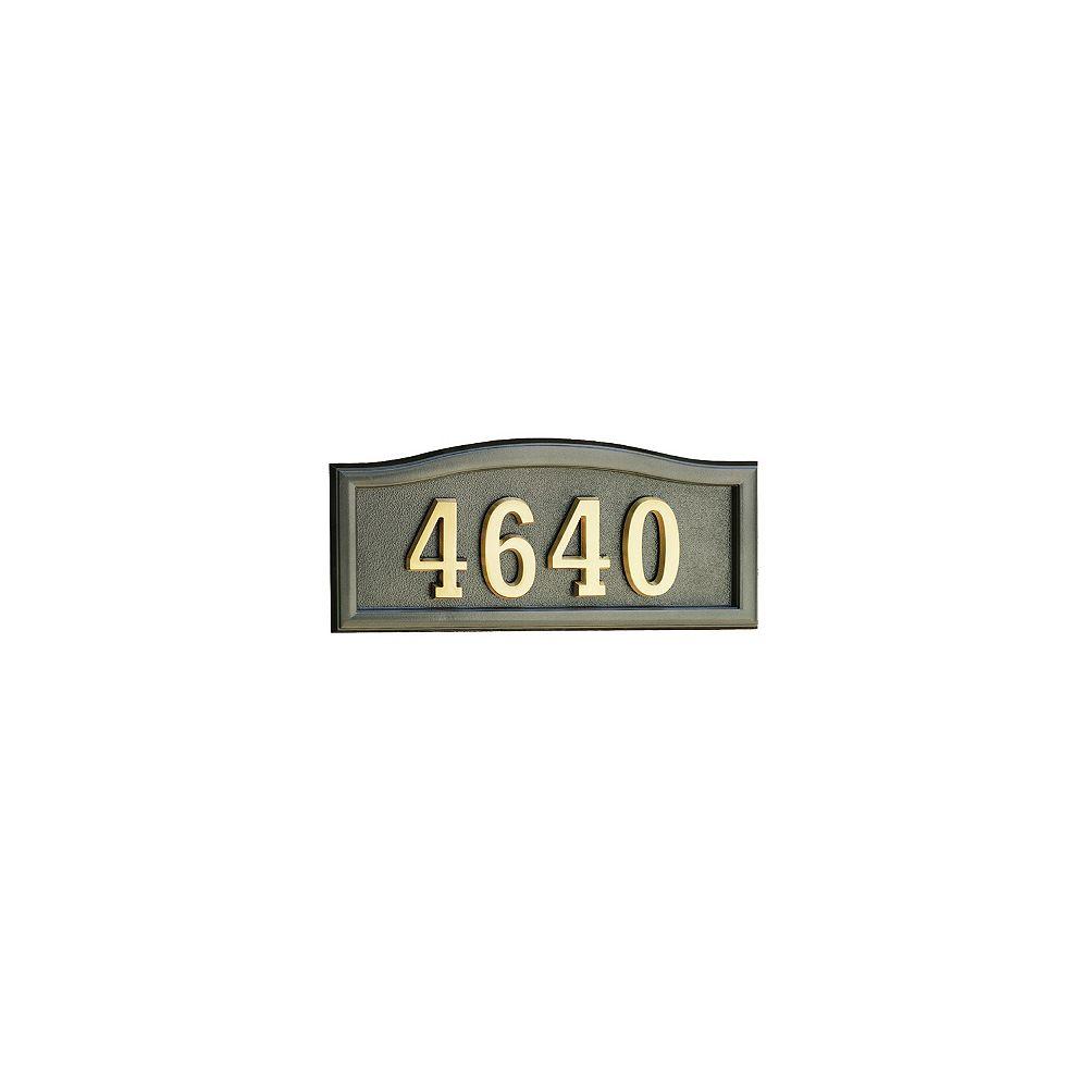 SoftCurve Metallic Bronze Cast Aluminum Address Plaque