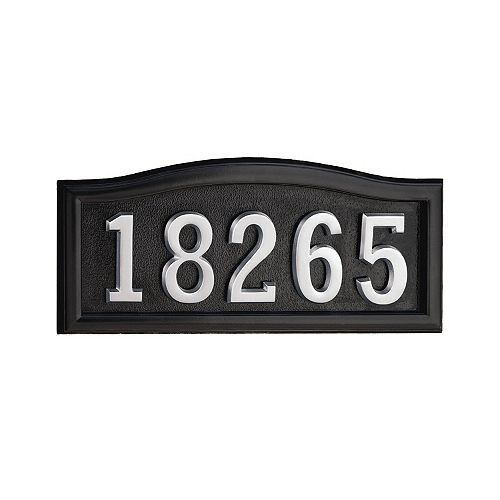 Black Cast Aluminum Address Plaque