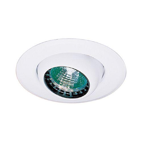 Mini luminaires cylindriques à encastrer à globe oculaire, Blanc