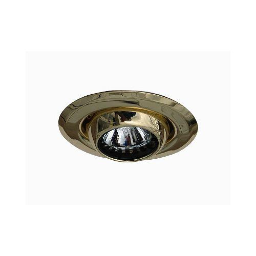 Mini luminaires cylindriques à encastrer à globe oculaire, Doré