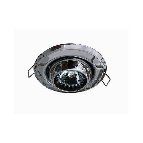 Mini luminaires cylindriques à encastrer à globe oculaire, Chromé