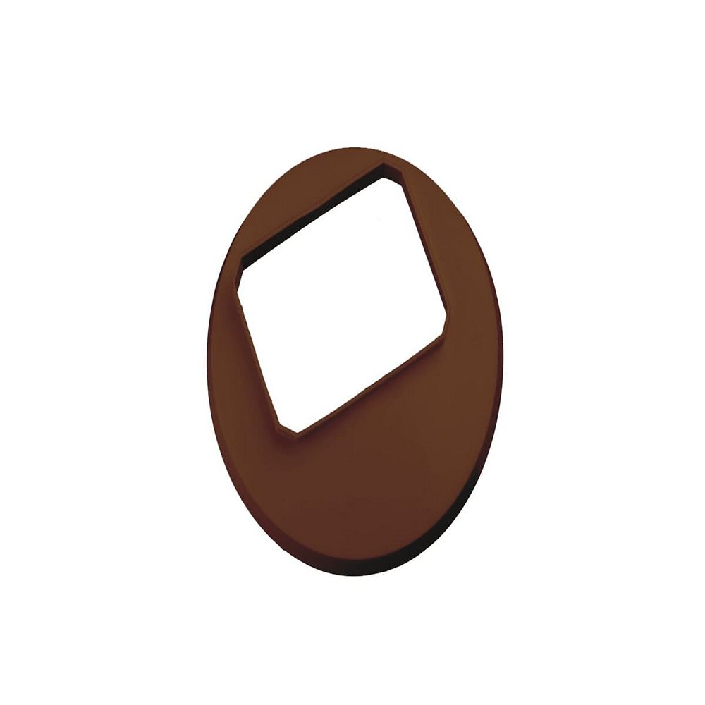 Peak Products 2-inch x 3-inch Vinyl Drain Tile Cover in Brown