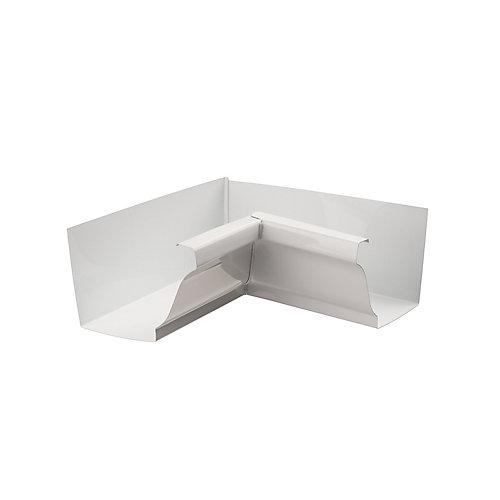 Aluminum Gutter 5-inch Inside Corner Box Mitre - White